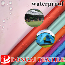 100 150cm size 210D Waterproof Polyester oxford fabric with pu coated for