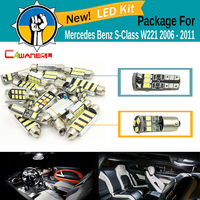 Cawanerl Car 2835 SMD No Error Interior LED Bulb White Canbus LED Kit Package For Mercedes Benz S Class W221 2006 2011