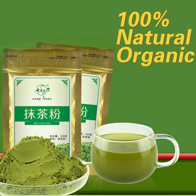 Hot 100g Matcha Green Tea Powder 100% Natural Organic Slimming Tea Matcha Tea Weight Loss Food+Free Shipping