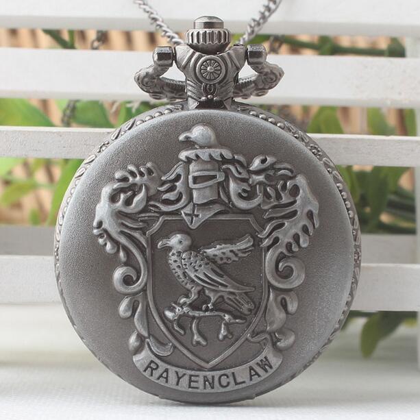 Vintage Bird Rayencl Aw Gray Antique Modern Clock Steampunk Good Quality Necklace Pocket Watches PO587