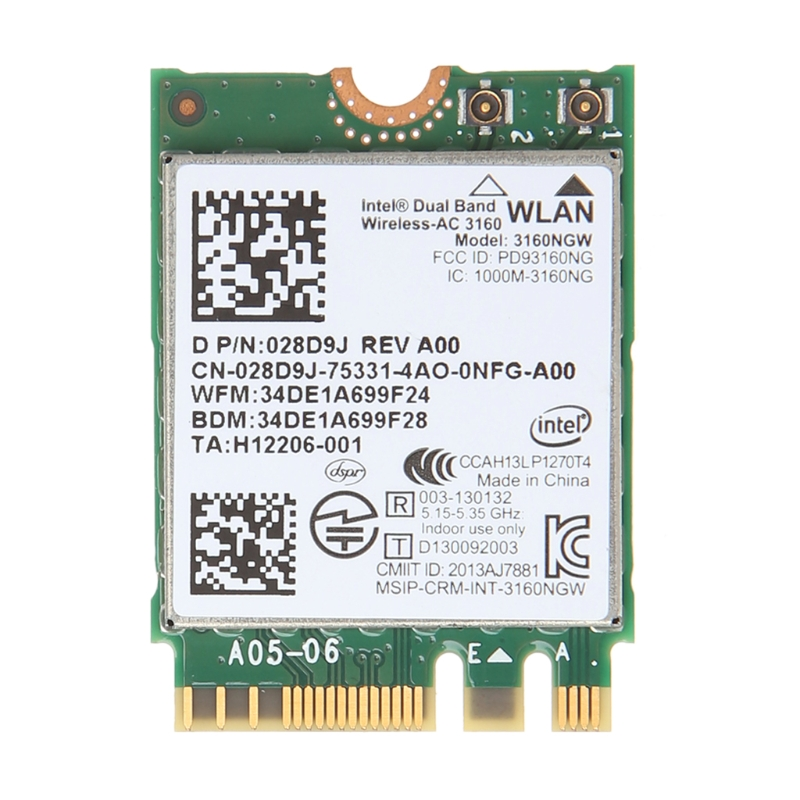Dell Wireless-AC 3160 Dual Band WLAN WiFi 802.11 Mini-PCI E Card N2VFR 3160NGW