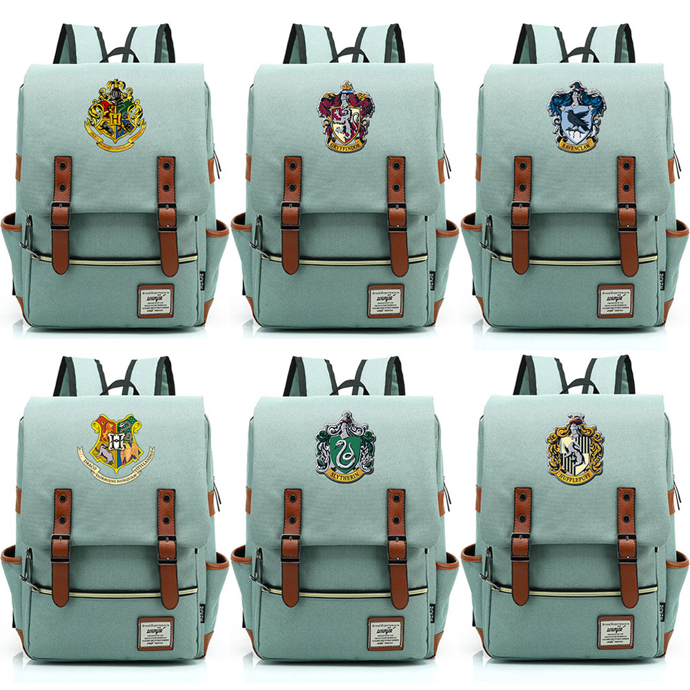 Hogwarts Slytherin Gryffindor Boy Girl Student School bag Teenagers Schoolbags Canvas Women Bagpack Men BackpackHogwarts Slytherin Gryffindor Boy Girl Student School bag Teenagers Schoolbags Canvas Women Bagpack Men Backpack
