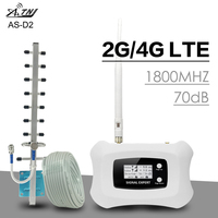 ATNJ 4G LTE Moblie Phone Signal Repeater 70dB Gain 4G DCS 1800MHz Cellular Signal Amplifier 2G 4G LTE Booster Band 3 LCD Display