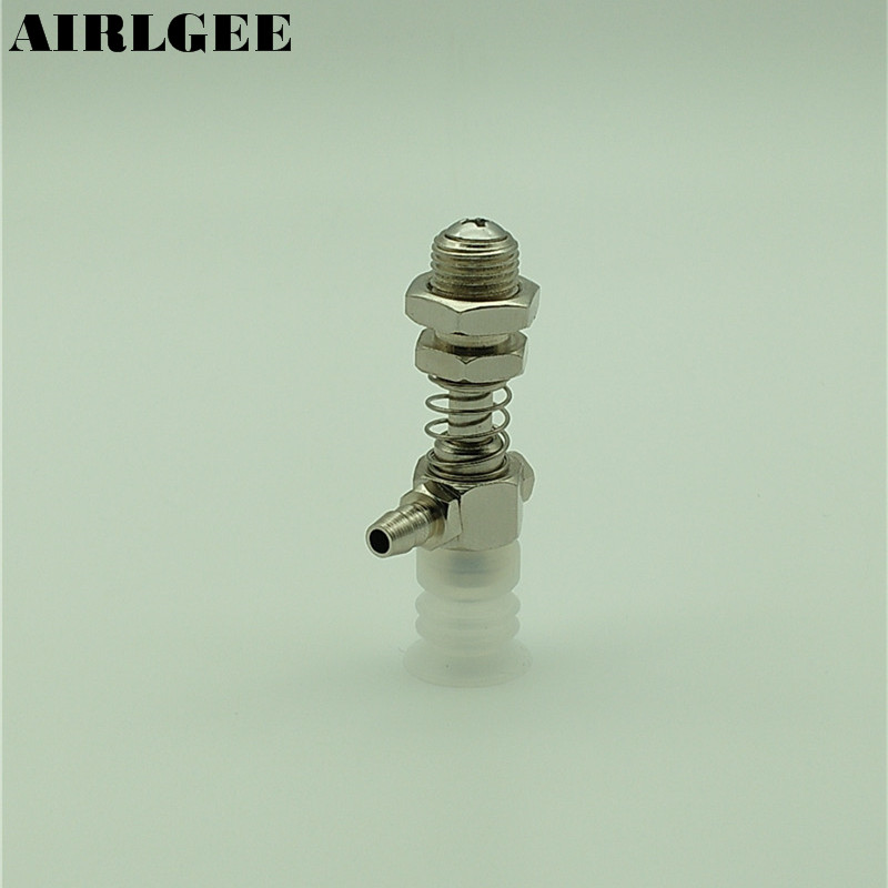 55mm Length 1 Port Fittings 10mm Thread 15mm Vacuum Cup Level Compensator Pneumatic Parts 2 4mm double ends tube fitting spring loaded vacuum cup level compensator zmm