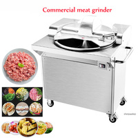 electric meat grinder Commercial chopping machine Stainless steel high-speed cut meat vegetable melon and fruit mincer machine