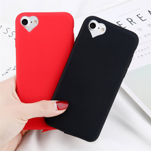 Get more info on the Candy Color Heart-Shaped Camera Hole Phone Case For Iphone 6S 7  Ultra-Thin Scrub For iphone 5 6 7 8 plus Coque Phone Back Cove
