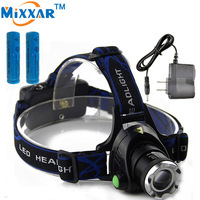ZK30 Led Headlamp Cree XM L T6 2000LM Head Light Zoomable Focus Head Torch Rechargeable Headlight