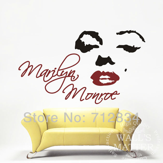Great [B.Z.D] Free Shipping Marilyn Monroe Art Decals Removable Home Decor Vinyl Wall  Stickers 145 X 85cm In Wall Stickers From Home U0026 Garden On Aliexpress.com  ...