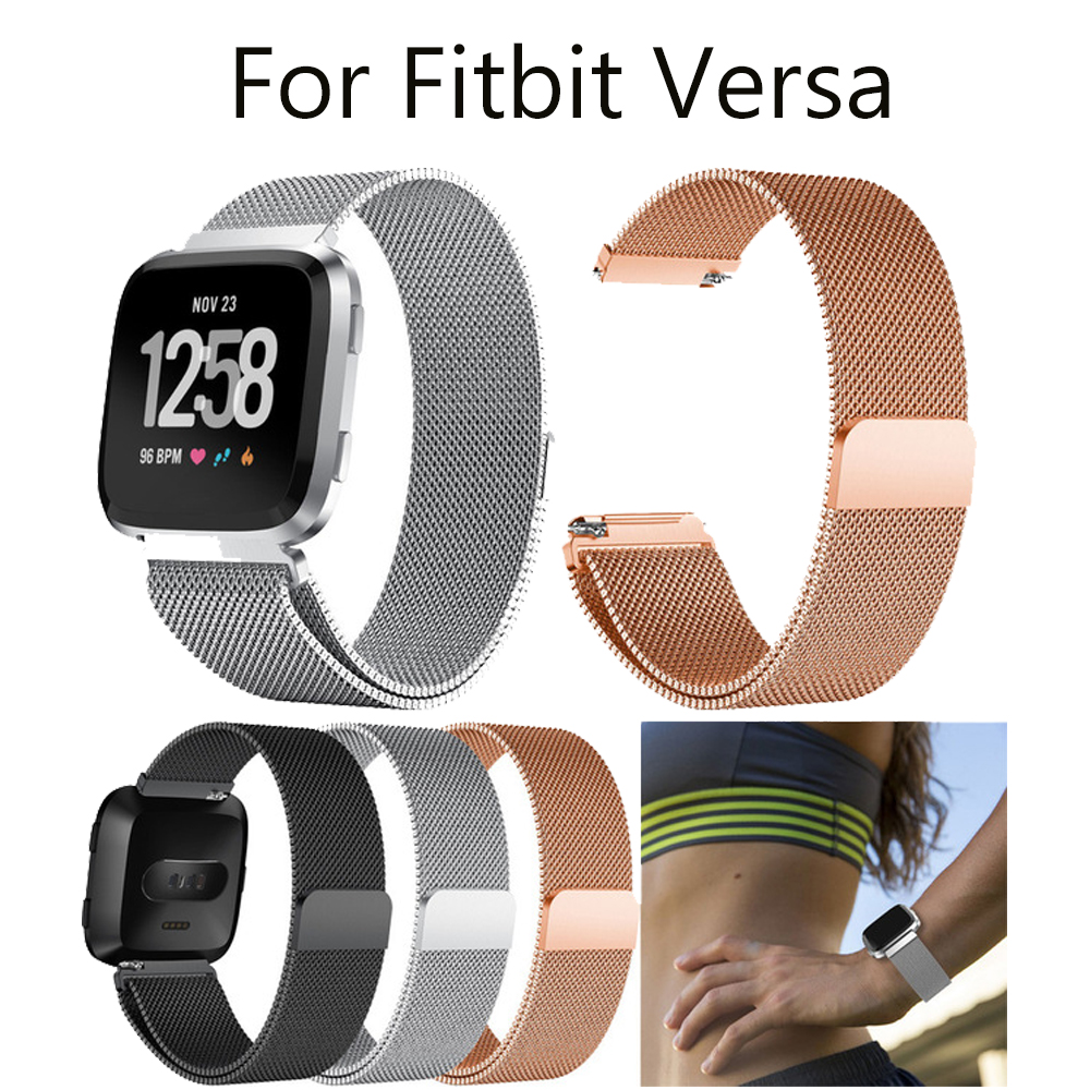 Hot Sale Luxury Milanese Magnetic Loop Stainless Steel Watch Band Strap For Fitbit Versa Dropshipping May15 HW