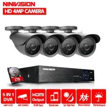 Home 4MP 4CH Security AHD DVR Kit CCTV System 4MP 2560*1440 Waterproof Outdoor IR Night Vision Camera Surveillance DIY Kit HDD