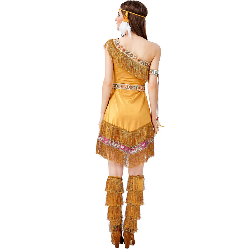 Indian Maiden Pocahontas Princess Costume Halloween Fancy Dress
