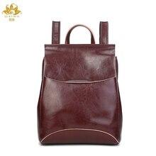 Мы более высокое качество из натуральной кожи Для женщин Рюкзаки Анти-Вор Дорожные сумки женские черные dailypack школы Дамы Опрятный девушка
