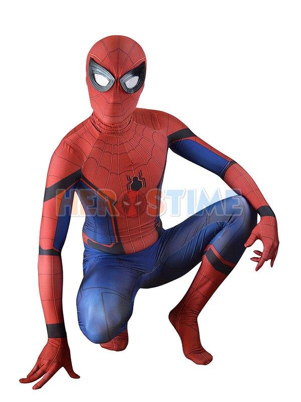 Homecoming Spiderman Cosplay Costume 3D Printed Halloween Spider-Man Bodysuit