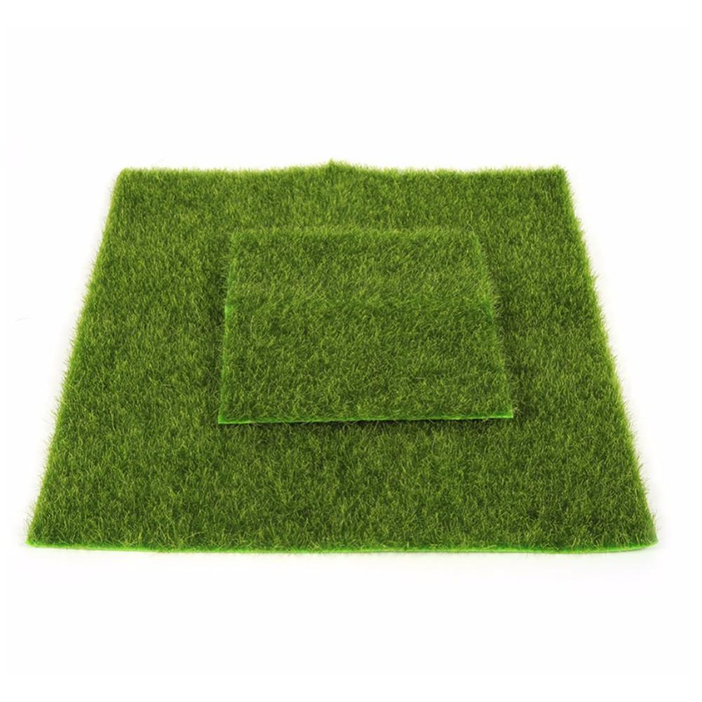 2 Sizes Creative Micro Landscape Fake Artificial Grass Landscape Home Ornament Aquarium Decoration Artificial Grass Garden