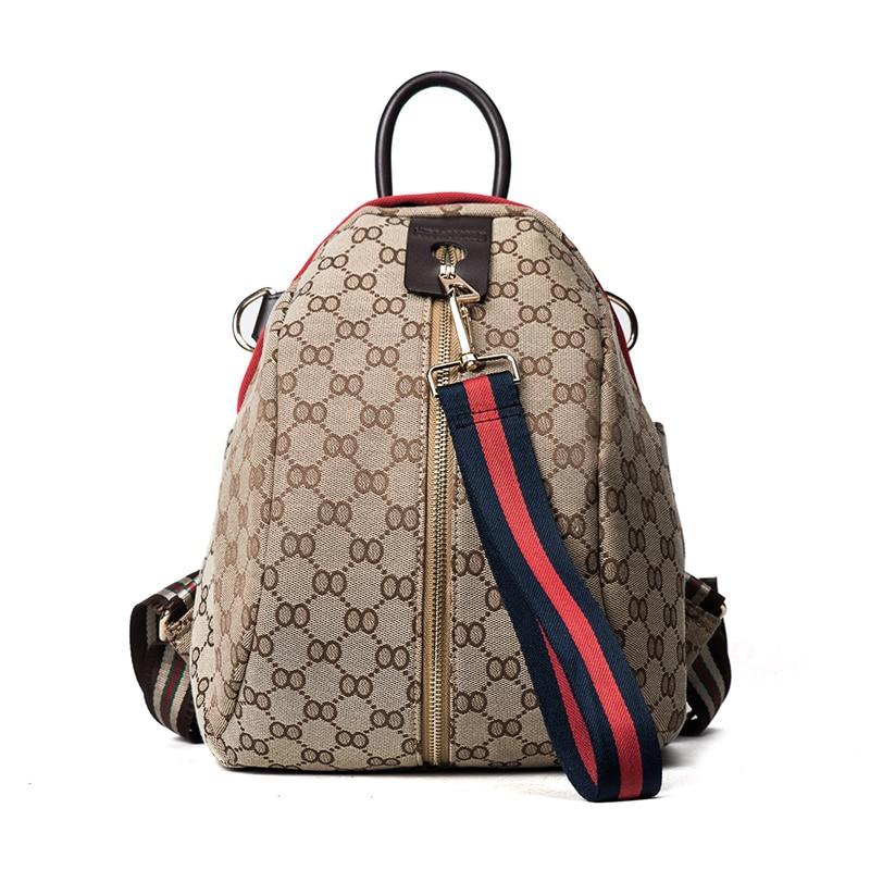 Canvas Backpack With Large Girl Shoulder Bags School Bag
