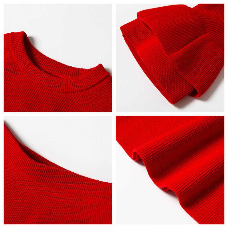 Minibalabala, ropa tejida de manga larga para niñas, camiseta + falda 2019, ropa nueva de primavera para niños, ropa para bebés de dos piezas
