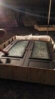 Custom Design Wrought Iron Doors 72 X96 Steel Iron Doors Glass Open Shipping To USA Home