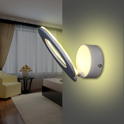 Simple Modern LED Wall Light Fixtures For Home Lighting Fashion Creative Circle Wall Sconces Bedside wall Lamps Lampara Pared 12w fashion arts painting pvc led wall lamp modern bedside light wall sconces fixtures for stairs bar cafe indoor home lighting