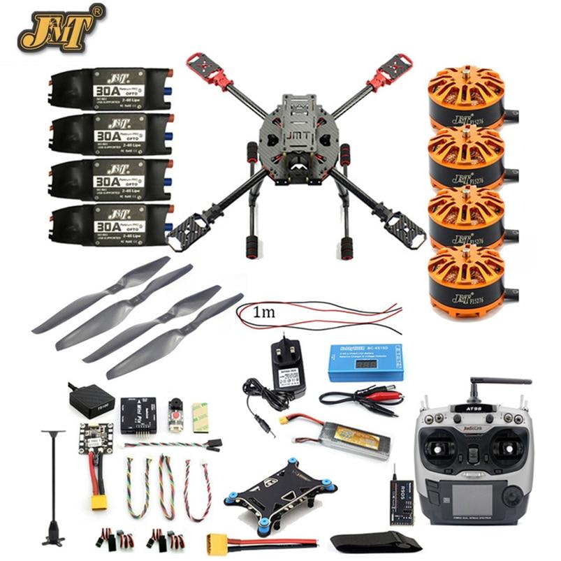 JMT Full Set DIY 2.4GHz 4-Aixs Quadcopter RC Drone 630mm Frame Kit MINI PIX+GPS AT9S TX RX Brushless Motor ESC Altitude Hold zd850 full carbon fiber 850mm hexa rotor frame pix pixhawk 2 4 8 flight comtrol 5010 360kv motor 40a brushless opto esc set