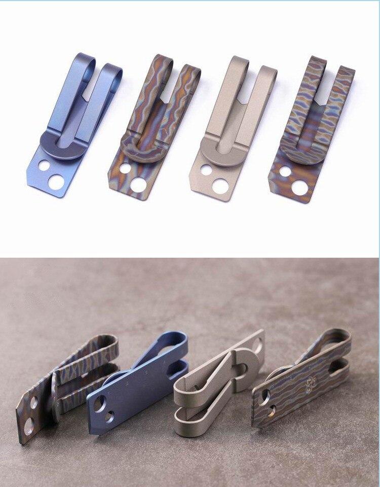 Купить с кэшбэком Multi-purpose Wallet Titanium Alloy Wallet Card Holder Tool Holder EDC Folder Clip Notes Tools