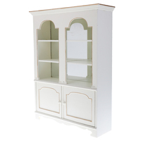 1/6 Scale Dollhouse Miniature Display Cabinet Clear Bookcase Furniture Model