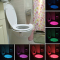 Smart LED Motion Auto Sensor Activated Toilet Night Lamp Bathroom With 8 Color Changing Battery Operated led energy saving lamp