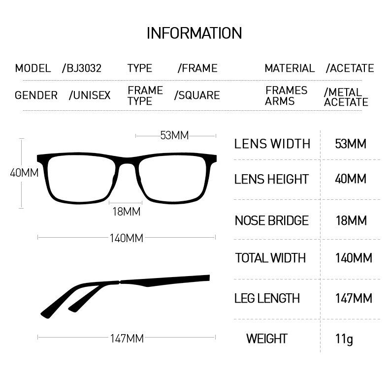 7ce1a8812d 2019 BOLON Square Eyeglasses Frame