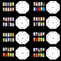 OPHIR 20PCS/lot Airbrushing Template Sheet Stencils/Airbrush Stencils for Airbrush Nail Art Paint Nail Accessory _JFH16
