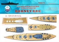 Assembly model 1/700 British Rodney ship wooden deck with anchor chain Dock wood deck Toys