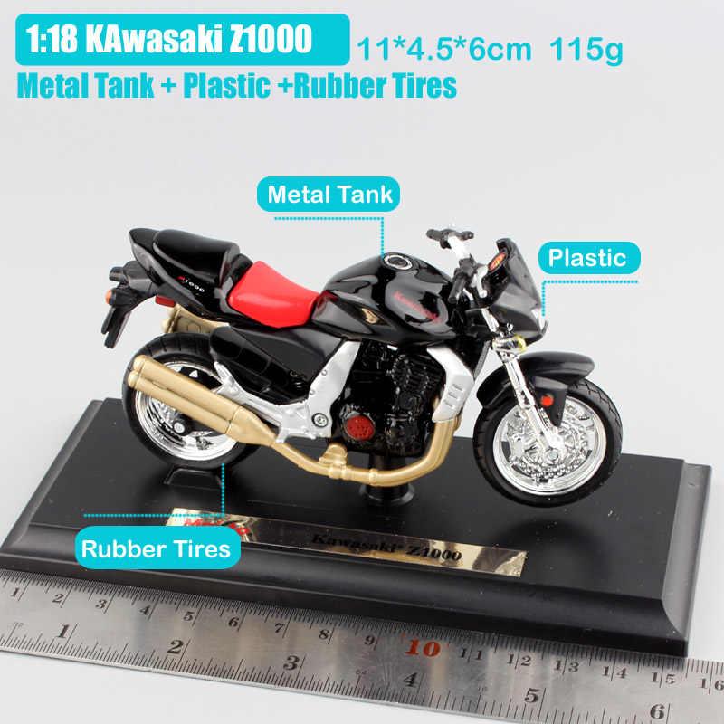1:18 Skala Merek Kecil Kawasaki Z1000 Streetfighter Sepeda Logam Diecast Olahraga Balap Sepeda Motor Model Anak Mobil Mainan Hadiah Anak