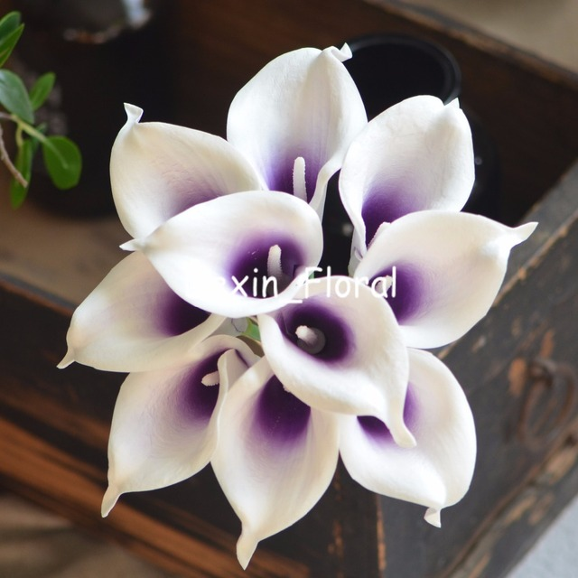 Royal Purple Picasso Calla Lilies Real Touch Flowers For Silk ...