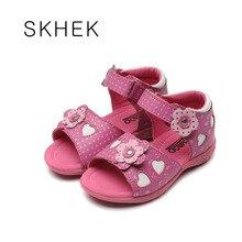Filles Sandales En Cuir Blanc Rose À Bout Ouvert Fleurs D'été Pour Filles Chaussures Enfants Chaussures Large Chaussure Zapato Menina