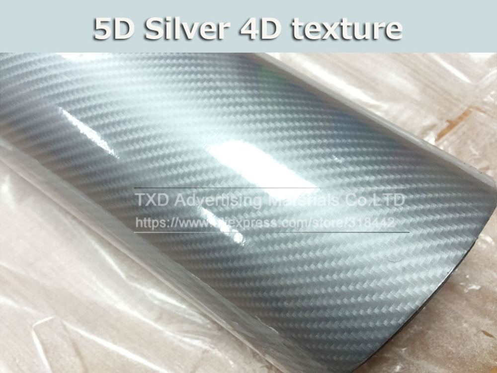 Image 4 - New arrival 5D carbon fiber with more colors for choice Blue red silver grey pink 5D carbon film 10/20/30/40/50/60x152CM/LOT-in Car Stickers from Automobiles & Motorcycles