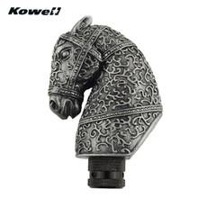 KOWELL антикварные шахматы рыцарь лошадь Автомобиль механическая коробка передач рукоятка для рычага переключения передач для Volkswagen VW Golf для Lada для KIA для Ford