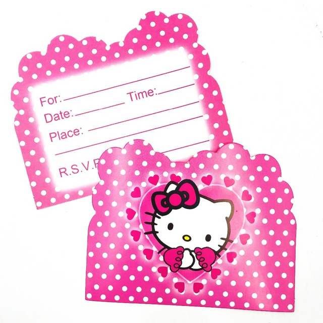 10pcs hello kitty themed birthday party invitations partyware baby 10pcs hello kitty themed birthday party invitations partyware baby shower for girls birthday decoration ideas invitation filmwisefo