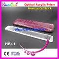 Oftálmica óptico optometría acrílico Horizontal Mini corto lente de prisma del palillo de gaza cuero caja embalan HB11 envío gratis
