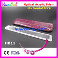 Ophthalmic Optical Optometry Acrylic Horizontal Mini Small Short Prism Lens Stick Strip Leather Case Packed HB11 Free Shipping