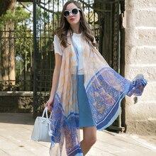 Sexy Seide Hijab Schals Sommer Tragen Strand Decke Pareo Sarongs Bikini Kleid Schal Wrap Foulard 110*245cm Bandana gesicht Schild