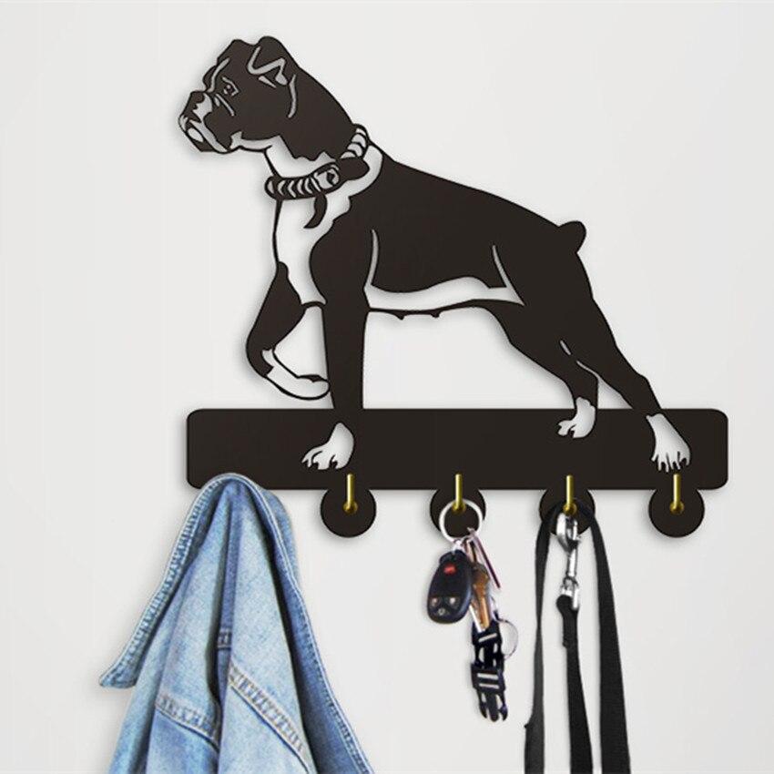 1 Piece Kitchen Bathroom Modern Design Boxer Dog Robe Hook 5 Hooks Coat Hat Bag Unique