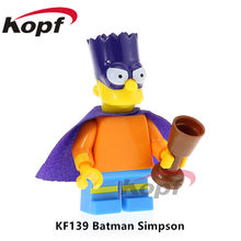 KF139 Super Heroes Building Blocks Batman Simpson wild Deadpool Yellow Jacket Iron Man For Children Bricks Education Toys Gift(China)