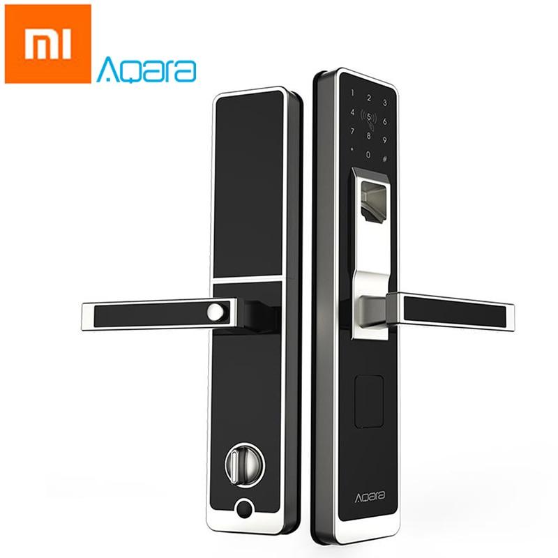 Original Xiao mi Aqara mi jia inteligente puerta bloqueo táctil ZigBee huella digital Keyless contraseña 4in1 mi casa App Control para seguridad para el hogar