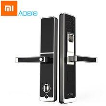 Original Xiaomi Aqara Mijia Pintu Pintar Sentuhan Pintar ZigBee Keyless Fingerprint Password 4in1 Mi Home App Kawalan untuk Home Security