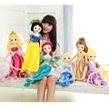 60 cm Plush Princesa Rapunzel Merida Branca de Neve Ariel Belle Cinderela Aurora Princesa dolls para a Menina
