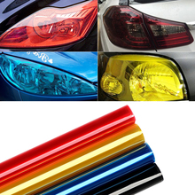 30cm x 120cm Auto Car Light Headlight Taillight Tint Vinyl Film Sticker Sheet Light Black Car Light Color Changing Sticker