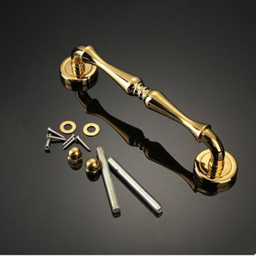 284mm modern fashion deluxe wooden glass door handles K gold silver chrome home office Ktv hotel door handles