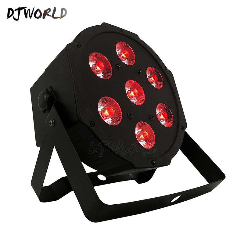 Image 2 - DJworld LED Flat Par 7x9W RGB 3IN1 Lighting DMX512 LED Stage Lighting DJ Disco Show Club Party Lights Top Selling Free Shipping-in Stage Lighting Effect from Lights & Lighting on