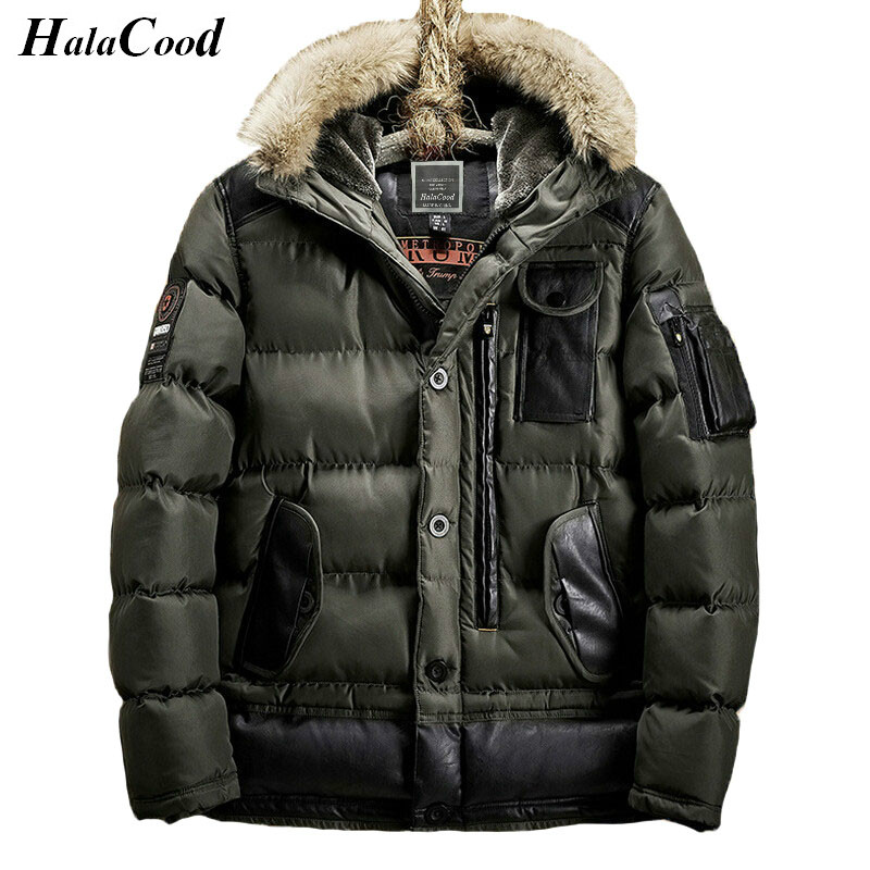 Hot Army Green Parka Brand Winter Jacket Men Warm Thicken Coat High Quality Famous Cotton-Padded Fashion Parkas Elegant Business hot sale men winter long cotton coat fashion plus cashmere thicker hooded parka high quality keep warm men jacket large size 2xl