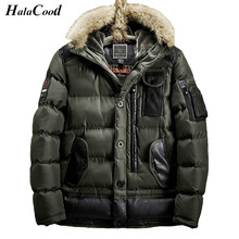Hot Army Green Parka Brand Winter Jacket Men Warm Thicken Coat High Quality Famous Cotton-Padded Fashion Parkas Elegant Business