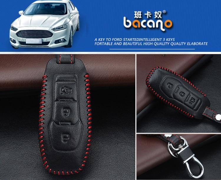 Prawdziwej Skóry Samochodu inteligentny / składany Klucz Case Fob - Akcesoria do wnętrza samochodu - Zdjęcie 6
