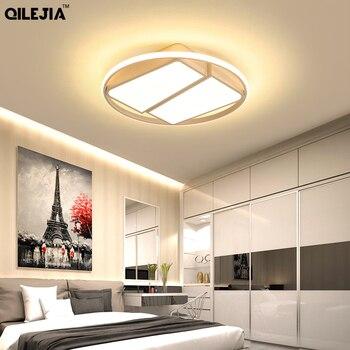 Đèn LED Hiện Đại Ốp Trần Đèn Chùm Cho Phòng Khách Phòng Ngủ Phòng Cưới Trắng Đen Màu Acrylic Bóng 85-265V Đèn Chùm Đèn Hắt đèn